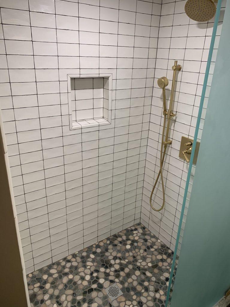 Basement Remodel Modern Shower