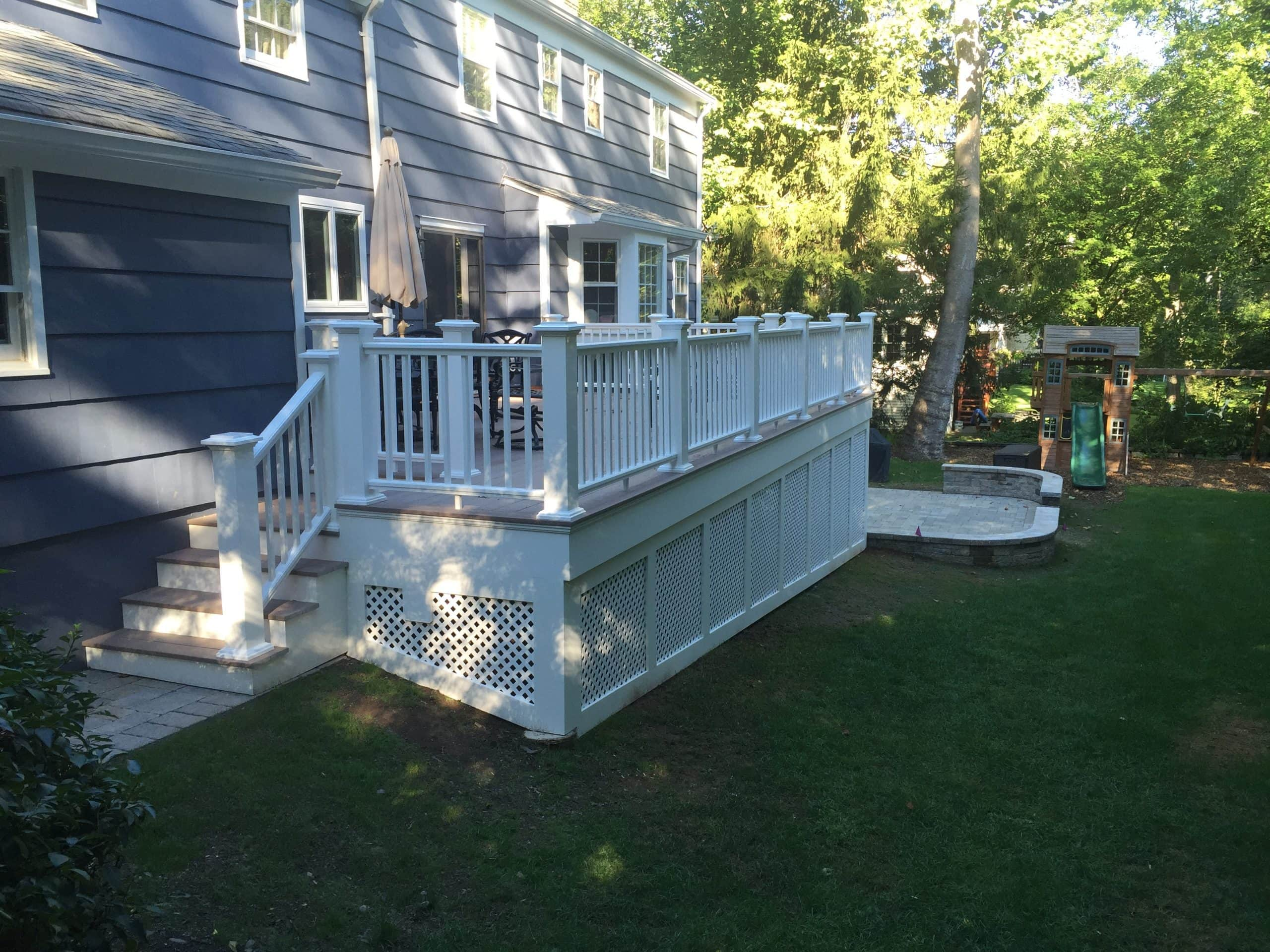 Deck Azek White Railings in Chatham