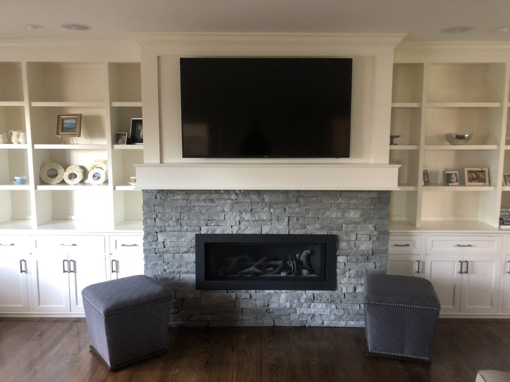 Home Remodeling Modern Traditional Fireplace Built-ins